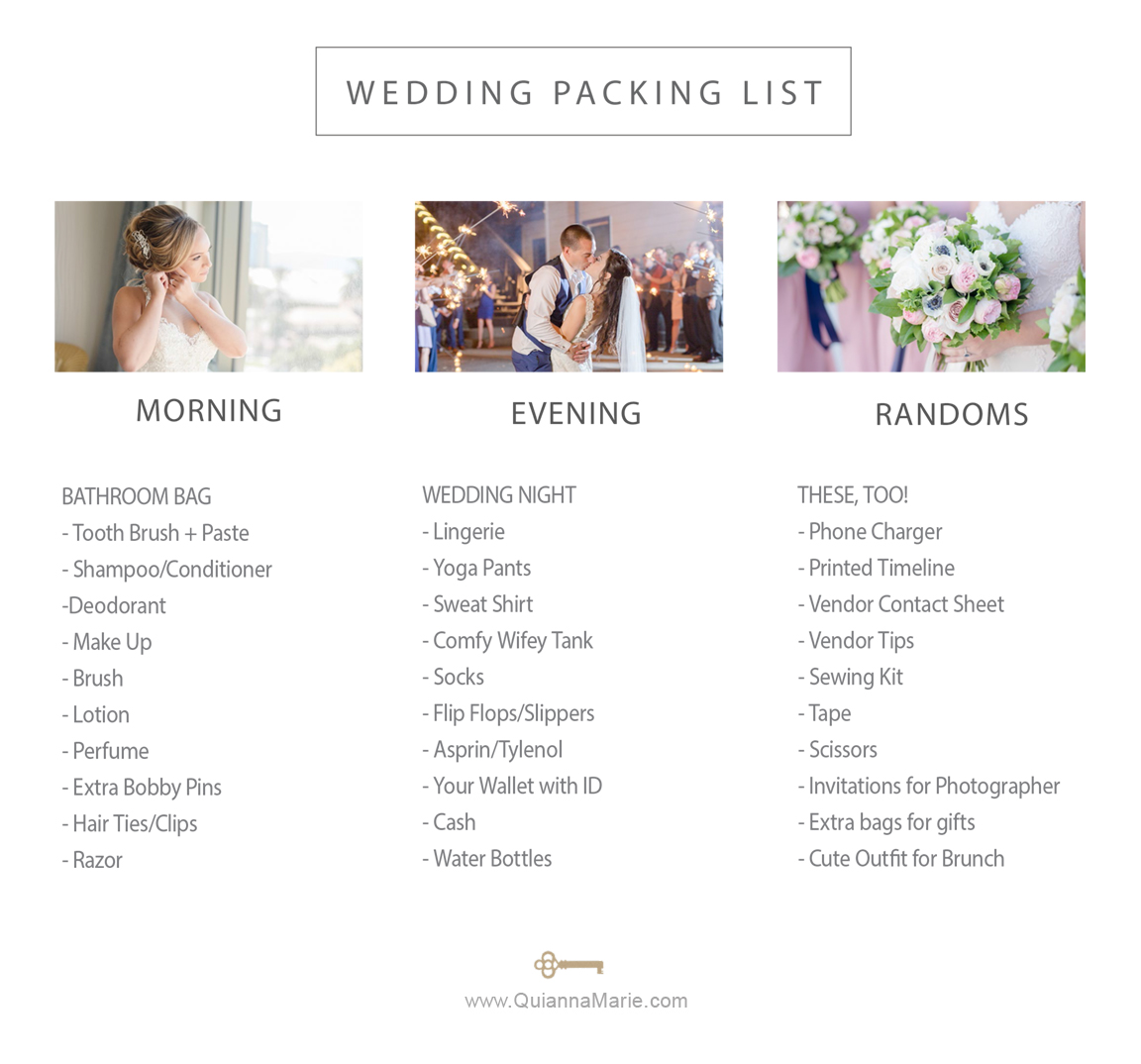 WeddingPacking List